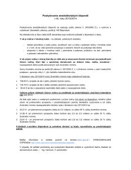 Poskytovanie stredoškolských štipendií v šk. roku 2013/2014