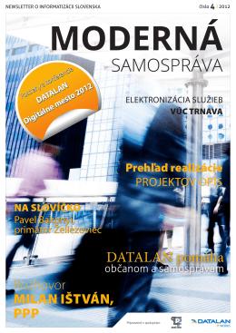 Moderná samospráva 4/2012 - Partnerstvá pre prosperitu