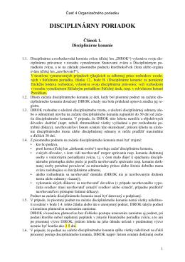 OP - 4. Disciplinárny poriadok