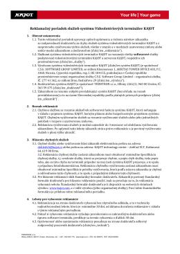 Reklamačný poriadok služieb systému Videolotériových