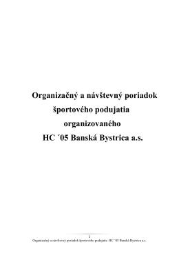 Organizačný a návštevný poriadok športového podujatia