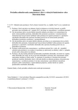 Dodatok č. 3 k Poriadku odmeňovania