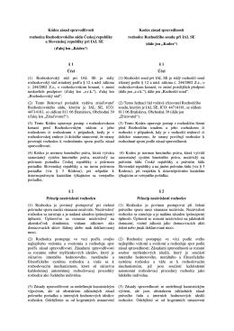 Kodex zásad spravedlnosti - Rozhodčí soud při IAL SE