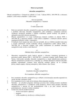 Rokovací poriadok obecného zastupiteľstva Obecné