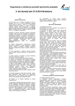3. dm ženský beh 27.9.2014 Bratislava