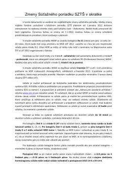 Zmeny Súťažného poriadku SZTŠ v skratke (pdf)
