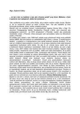 Mgr. Ľudovít Fábry - Strana občianskej ľavice