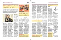 Sobotná príloha denníka Pravda, 19. apríl 2014