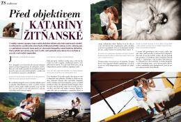 Rozhovor s Katarínou Žitňanskou v časopise TVOJE SVATBA
