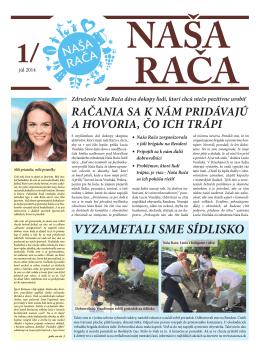 NAŠA RAČA - nasaraca.sk