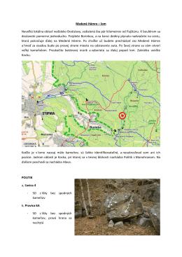 Medené Hámre – lom Neveľká lokálna oblasť neďaleko