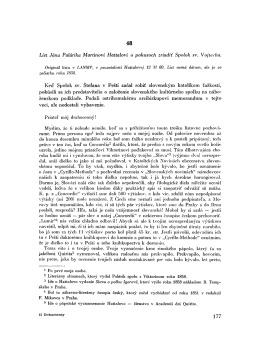 List Jána Palárika Martinovi Hattalovi o pokusoch zriadiť