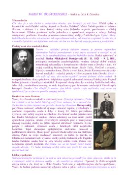 Fiodor M. DOSTOJEVSKIJ – láska a úcta k človeku Mocou