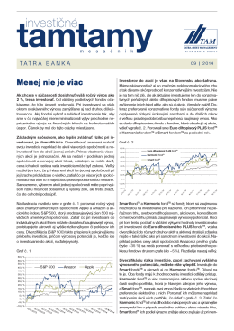Menej nie je viac - Tatra Asset Management
