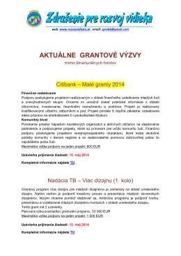 Grantove vyzvy 2014