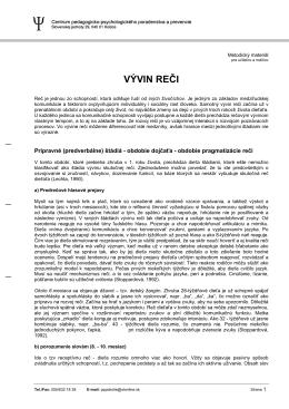 VÝVIN REČI - CPPPaP Košice