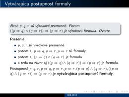 Vytvárajúca postupnosť formuly