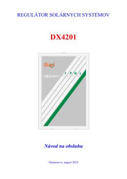 DX4201 Návod na obsluhu