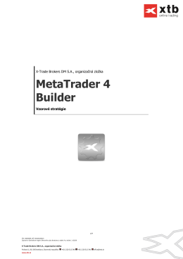 MetaTrader 4 Builder - X