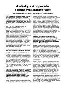 4 otázky a 4 odpovede o striedavej starostlivosti