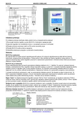 Manuál Regulátora ELCONDER (pdf