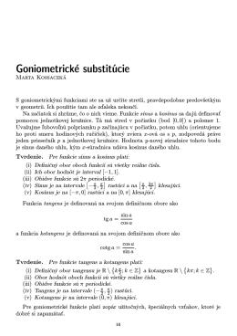 Goniometrické substitúcie