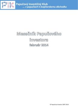 © Papučový investor 2007-2014