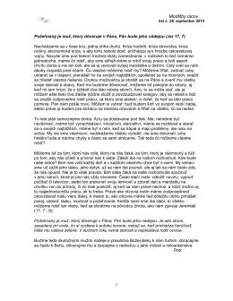 Spravodaj 28 - Modlitby otcov