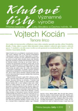 Vojtech Kocián - Listy Slovákov a Čechov