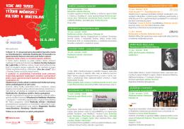 Viac informácií a program v priloženom PDF