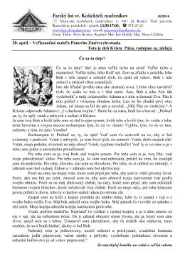 20. Apríl 2014 - Farnosť sv. košických mučeníkov