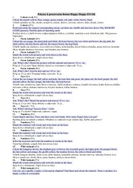 Pokyny k pracovným listom Happy Hoppy EN-SK