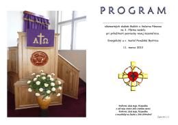 Program posviacky kazateľnice