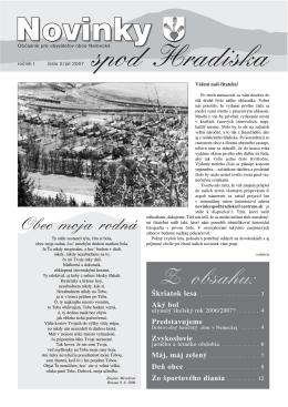 Obecné noviny 2/2007