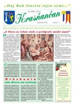 Krasňančan 4/2010 - Mestská časť Košice Krásna