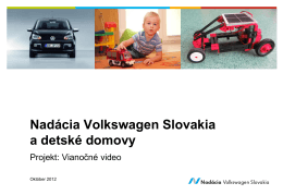 Vianočné video - Nadácia Volkswagen Slovakia