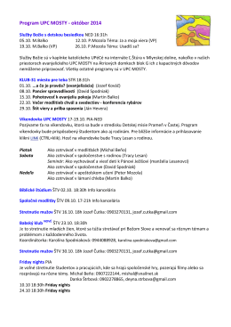 Program UPC MOSTY - október 2014