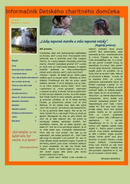 Prečítajte si nové číslo 2/2012 informačníka Detského