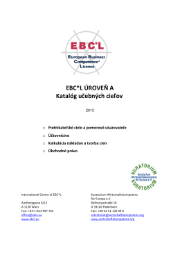 - EBC*L Slovensko