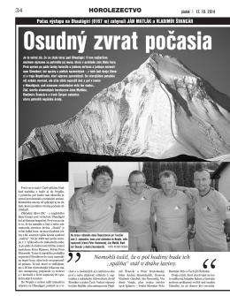 Šport 17.10.2014, strana 34