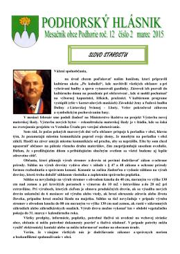 hlasnik-2-2015 - Obec Podhorie