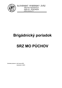 Brigádnický poriadok MO SRZ Púchov