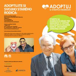 Leták Adoptuj si staerých rodičov 2012