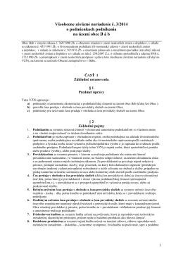 Všeobecne záväzné nariadenie č