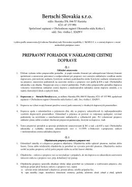 PREPRAVNY PORIADOK_Bertschi_SK