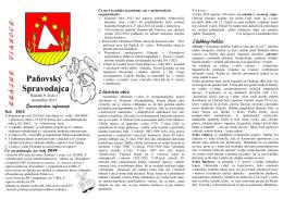 Paňovský spravodajca 1/2013