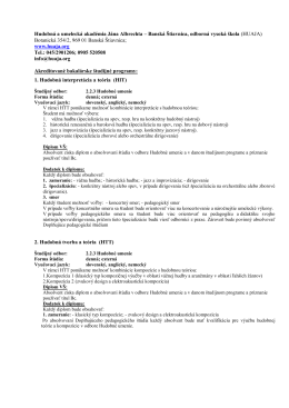 Štúdium na HUAJA_akreditované študijné programy