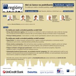 Aké sú šance na podnikanie v košickom regióne?