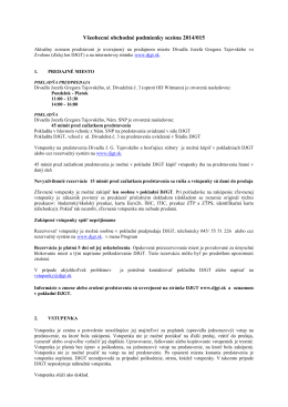 Všeobecné obchodné podmienky sezóna 2014/015