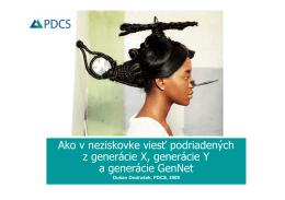 Generácia X - Neziskovky
